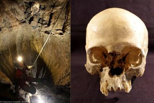 Lo strano caso del cranio trovato nella Grotta Marcel Loubens, vicino a Bologna